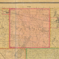 Sherman, Iowa 1884 Old Town Map Custom Print - Calhoun Co.