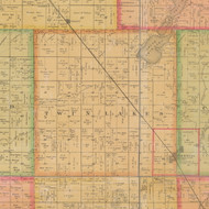 Twin Lakes, Iowa 1884 Old Town Map Custom Print - Calhoun Co.
