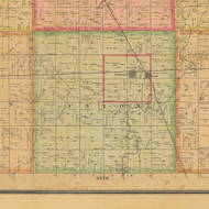 Union, Iowa 1884 Old Town Map Custom Print - Calhoun Co.