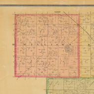 Williams, Iowa 1884 Old Town Map Custom Print - Calhoun Co.