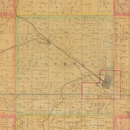 Carroll, Iowa 1884 Old Town Map Custom Print - Carroll Co.