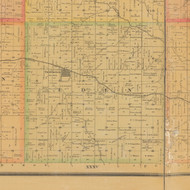 Eden, Iowa 1884 Old Town Map Custom Print - Carroll Co.