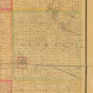 Gidden, Iowa 1884 Old Town Map Custom Print - Carroll Co.