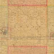 Grant, Iowa 1884 Old Town Map Custom Print - Carroll Co.