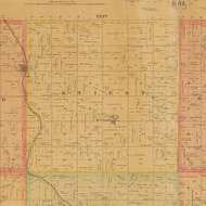 Kniest, Iowa 1884 Old Town Map Custom Print - Carroll Co.