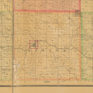 Newton, Iowa 1884 Old Town Map Custom Print - Carroll Co.