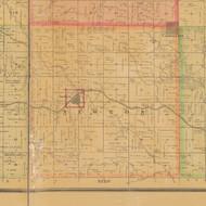 Newton, Iowa 1884 Old Town Map Custom Print - Carroll Co.