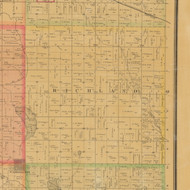 Richland, Iowa 1884 Old Town Map Custom Print - Carroll Co.