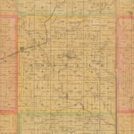 Roselle, Iowa 1884 Old Town Map Custom Print - Carroll Co.
