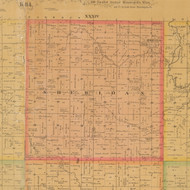 Sheridan, Iowa 1884 Old Town Map Custom Print - Carroll Co.