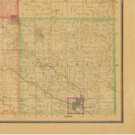Union, Iowa 1884 Old Town Map Custom Print - Carroll Co.