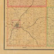Warren, Iowa 1884 Old Town Map Custom Print - Carroll Co.