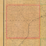 Washington, Iowa 1884 Old Town Map Custom Print - Carroll Co.