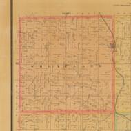 Wheatland, Iowa 1884 Old Town Map Custom Print - Carroll Co.