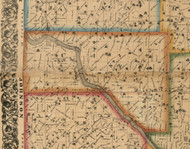 Cass, Iowa 1863 Old Town Map Custom Print - Cedar Co.