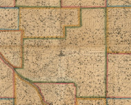 Centre, Iowa 1863 Old Town Map Custom Print - Cedar Co.