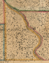 Iowa, Iowa 1863 Old Town Map Custom Print - Cedar Co.