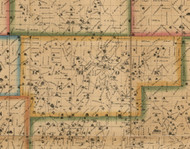 Redoak, Iowa 1863 Old Town Map Custom Print - Cedar Co.