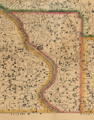 Rochester, Iowa 1863 Old Town Map Custom Print - Cedar Co.
