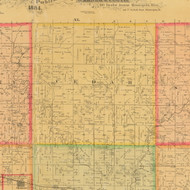 Cedar, Iowa 1884 Old Town Map Custom Print - Cherokee Co.