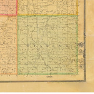 Diamond, Iowa 1884 Old Town Map Custom Print - Cherokee Co.