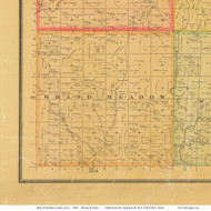 Grand Meadow, Iowa 1884 Old Town Map Custom Print - Cherokee Co.