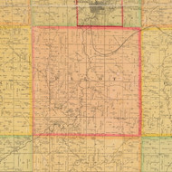 Pilot, Iowa 1884 Old Town Map Custom Print - Cherokee Co.