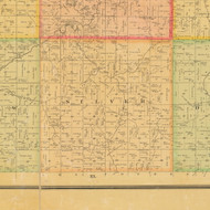 Silver, Iowa 1884 Old Town Map Custom Print - Cherokee Co.
