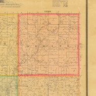Spring, Iowa 1884 Old Town Map Custom Print - Cherokee Co.