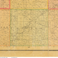 Wheatland, Iowa 1884 Old Town Map Custom Print - Cherokee Co.