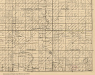 Garfield, Iowa 1896 Old Town Map Custom Print - Clay Co.