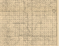 Gilletts Grove, Iowa 1896 Old Town Map Custom Print - Clay Co.