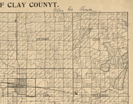 Meadow, Iowa 1896 Old Town Map Custom Print - Clay Co.