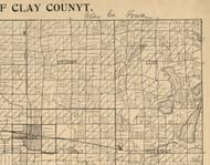 Meadow, Iowa 1896 Old Town Map Custom Print - Clay Co.