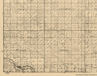 Peterson, Iowa 1896 Old Town Map Custom Print - Clay Co.