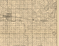 Sioux, Iowa 1896 Old Town Map Custom Print - Clay Co.