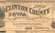 Title of Source Map - Clinton Co., Iowa 1865 - NOT FOR SALE - Clinton Co.