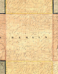 Berlin, Iowa 1865 Old Town Map Custom Print - Clinton Co.