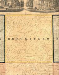 Brookfield, Iowa 1865 Old Town Map Custom Print - Clinton Co.