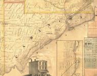 Camanche, Iowa 1865 Old Town Map Custom Print - Clinton Co.