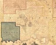 Dewitt, Iowa 1865 Old Town Map Custom Print - Clinton Co.