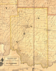 Eden, Iowa 1865 Old Town Map Custom Print - Clinton Co.