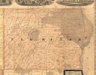 Elk River, Iowa 1865 Old Town Map Custom Print - Clinton Co.