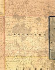 Hampshire, Iowa 1865 Old Town Map Custom Print - Clinton Co.