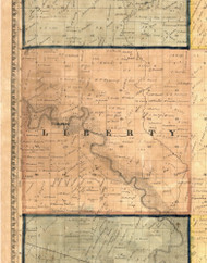 Liberty, Iowa 1865 Old Town Map Custom Print - Clinton Co.