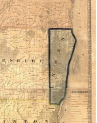 Lyons, Iowa 1865 Old Town Map Custom Print - Clinton Co.