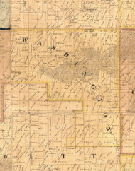 Washington, Iowa 1865 Old Town Map Custom Print - Clinton Co.