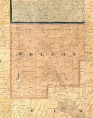 Welton, Iowa 1865 Old Town Map Custom Print - Clinton Co.