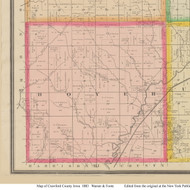 Boyer, Iowa 1883 Old Town Map Custom Print - Crawford Co.