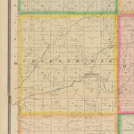 Charter Oak, Iowa 1883 Old Town Map Custom Print - Crawford Co.
